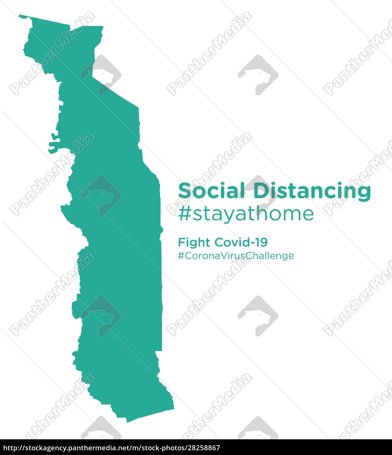 togo, map, with, social, distancing, stayathome - 28258867