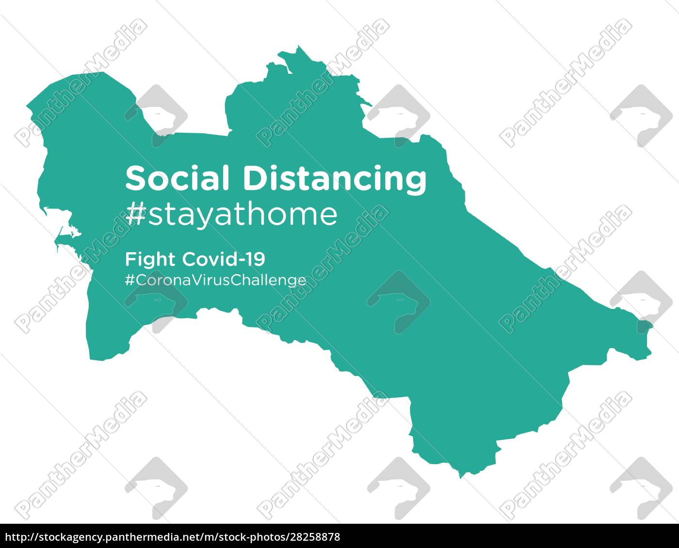 turkmenistan, map, with, social, distancing, stayathome - 28258878