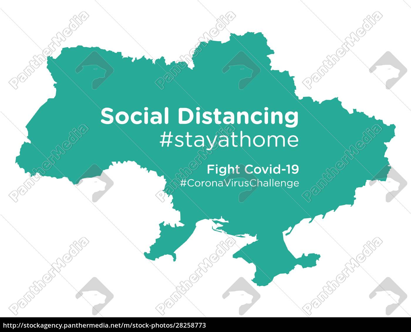 ukraine, map, with, social, distancing, stayathome - 28258773