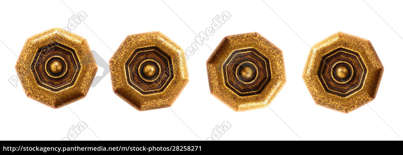 verschiedene, griffe, für, schublade, aus, messing - 28258271