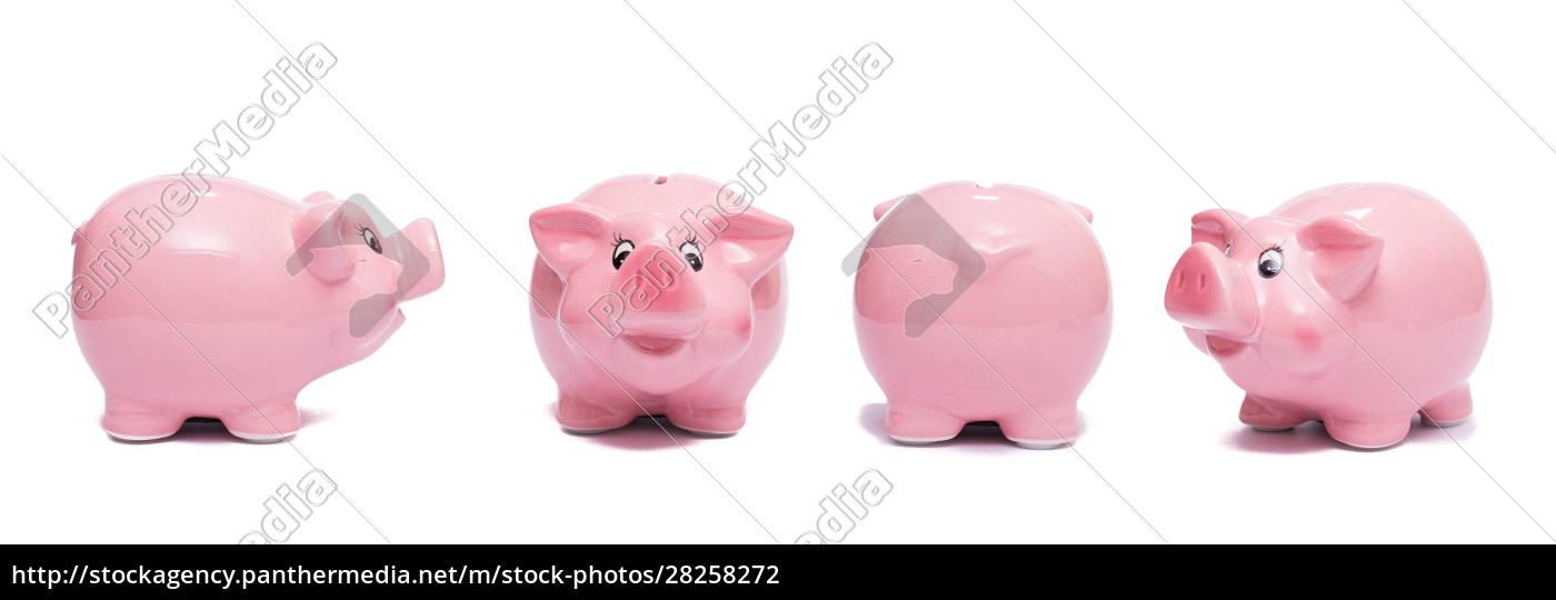verschiedene, schweine, als, rosa, spardose - 28258272