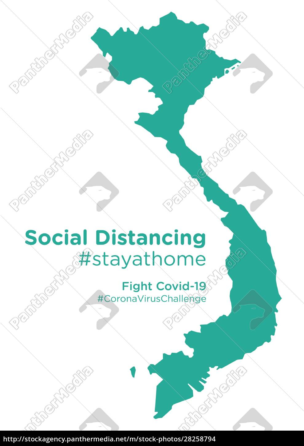 vietnam, map, with, social, distancing, stayathome - 28258794