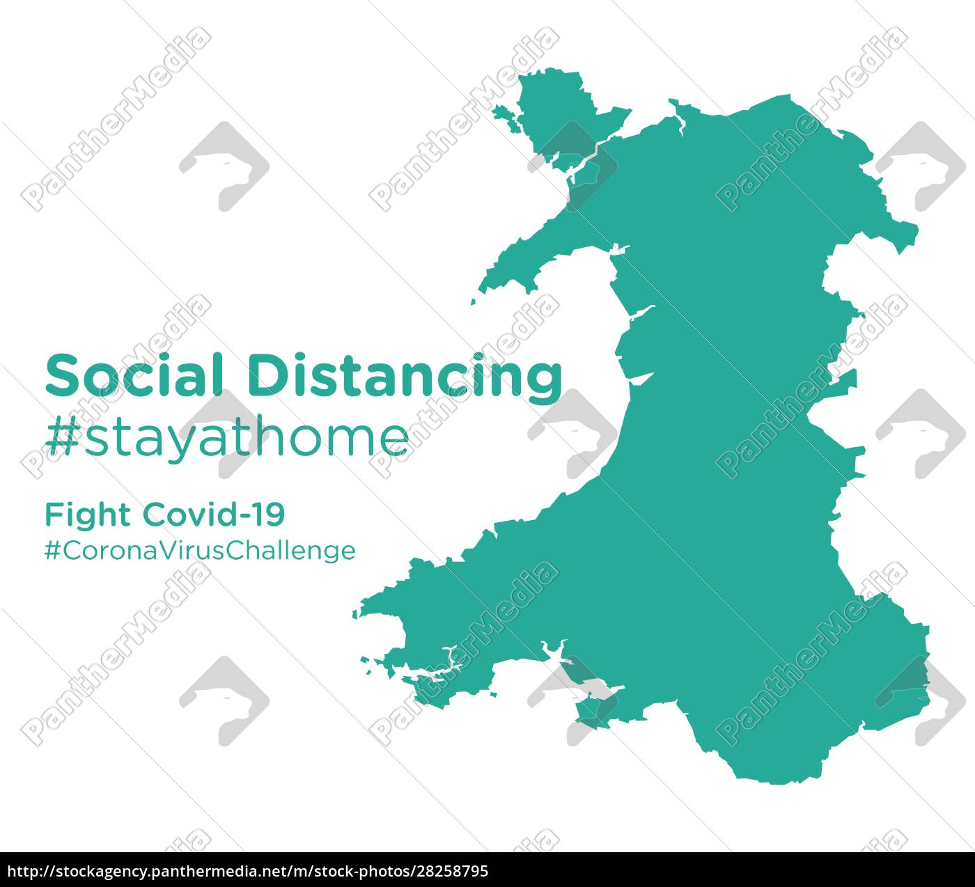 wales, map, with, social, distancing, stayathome - 28258795
