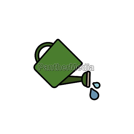 watering, can., filled, color, icon., gardening - 28258475