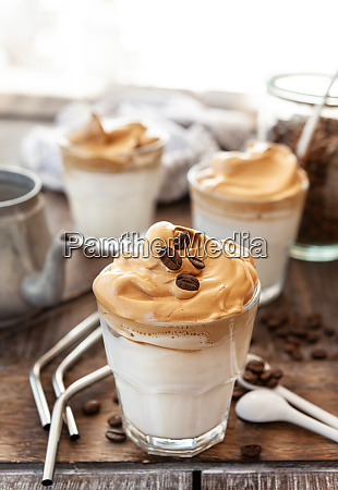 whipped, coffee, in, a, glass - 28258041