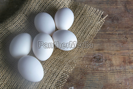 white, eggs, stand, on, a, burlap - 28258212