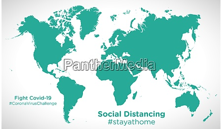 world, map, with, social, distancing, #stayathome - 28258796