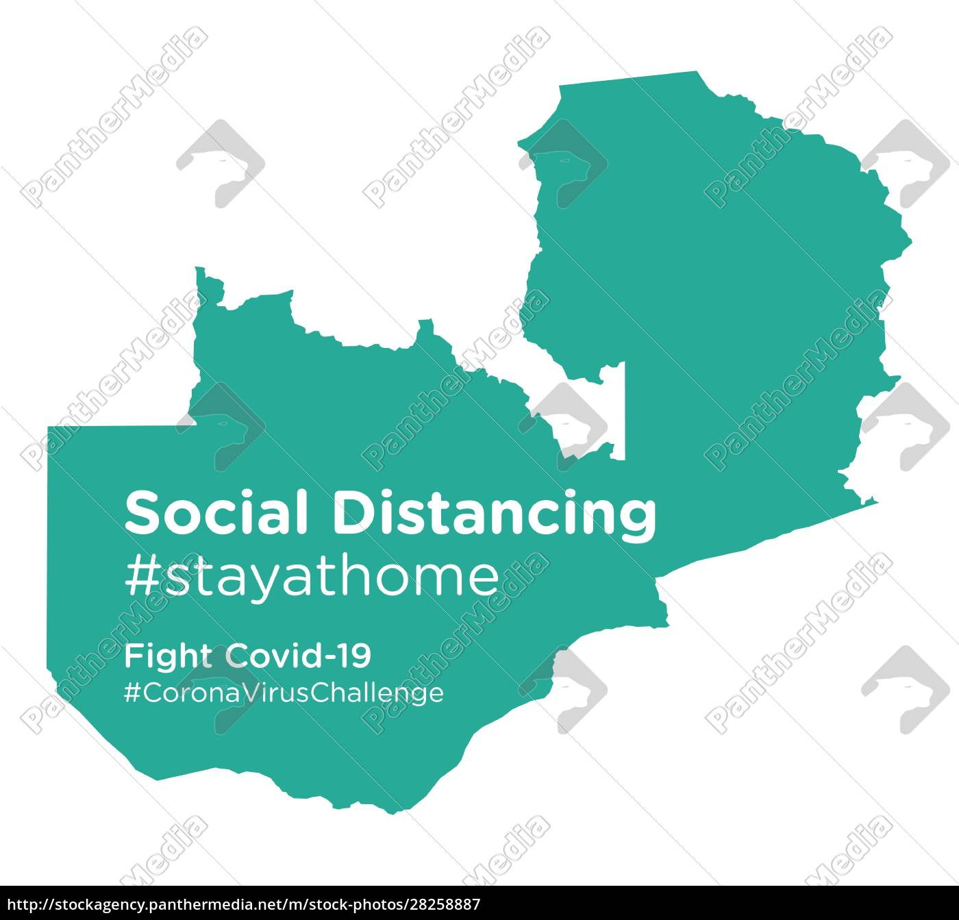 zambia, map, with, social, distancing, stayathome - 28258887