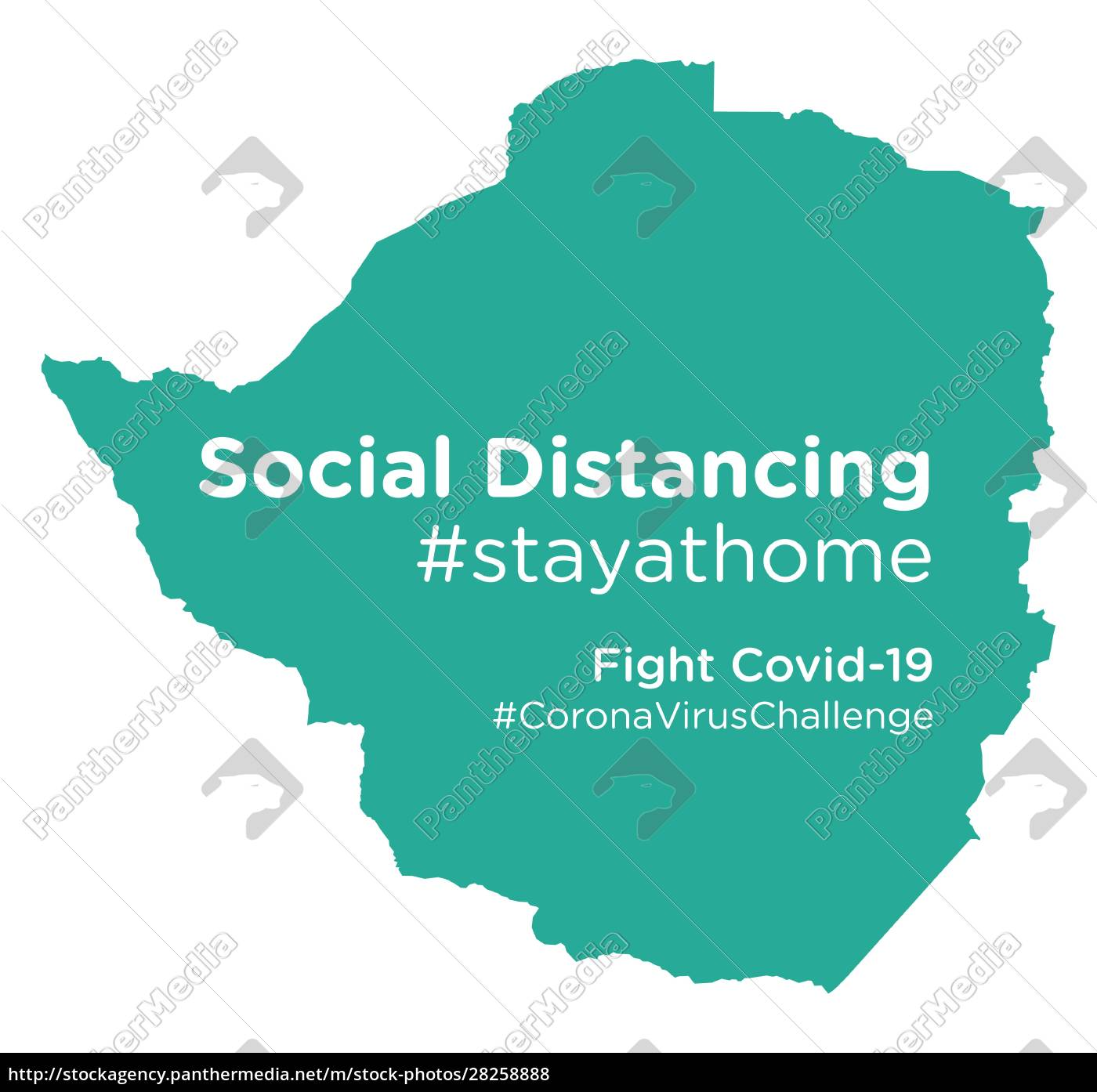 zimbabwe, map, with, social, distancing, stayathome - 28258888
