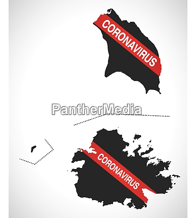 antigua, and, barbuda, map, with, coronavirus - 28259078