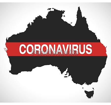 australia, map, with, coronavirus, warning, illustration - 28259084