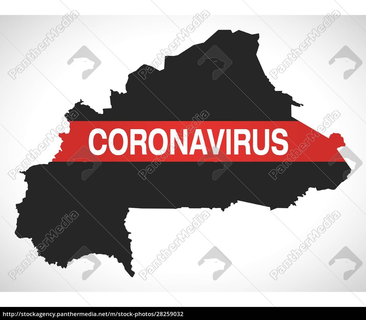 burkina, faso, map, with, coronavirus, warning - 28259032