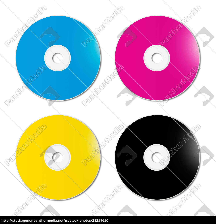 cmyk, cd, -, dvd, set, on - 28259650