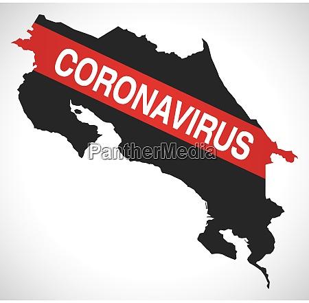 costa, rica, map, with, coronavirus, warning - 28259052