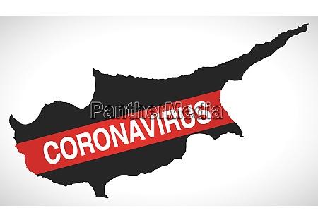 cyprus, map, with, coronavirus, warning, illustration - 28259255