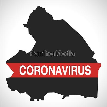 drenthe, netherlands, province, map, with, coronavirus - 28259416