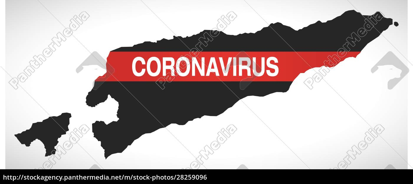 east, timor, map, with, coronavirus, warning - 28259096