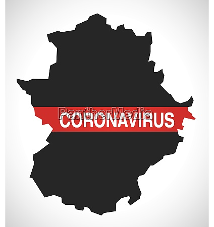 extremadura, spain, region, map, with, coronavirus - 28259516