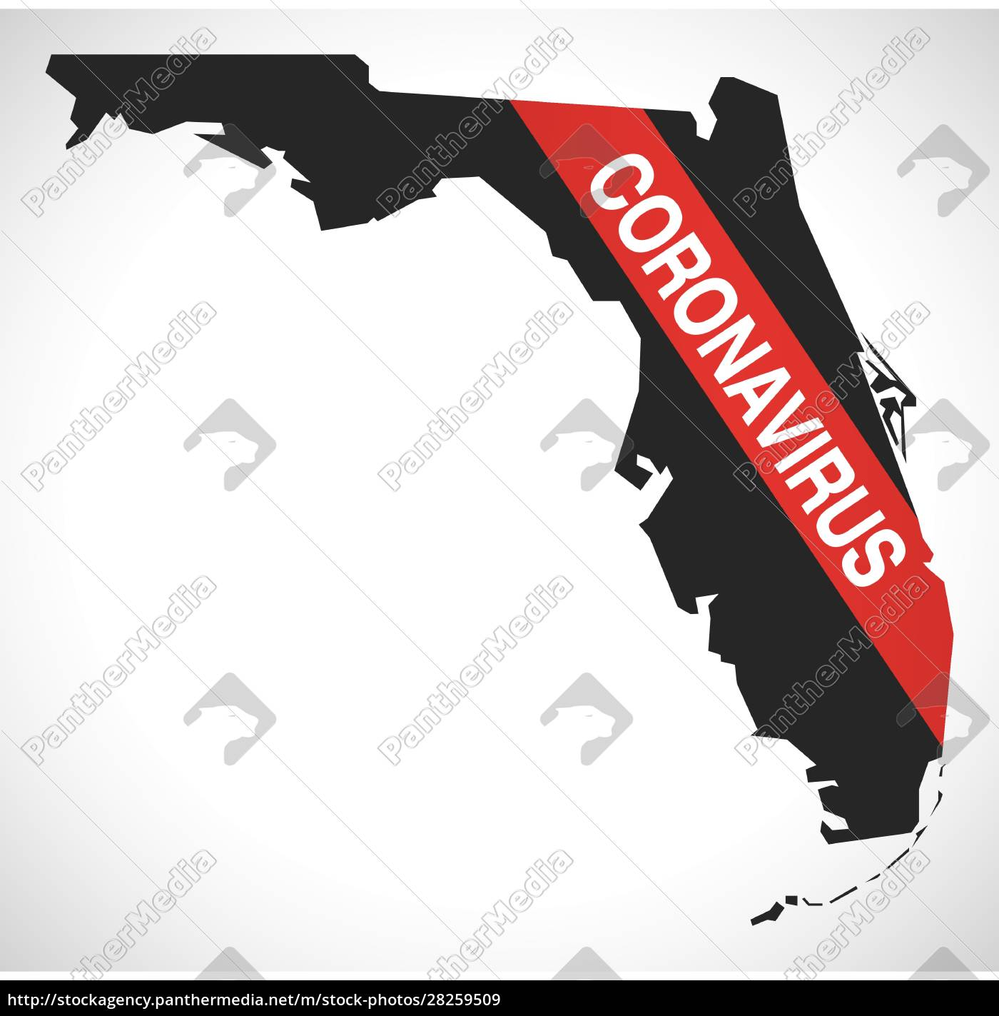 florida, usa, federal, state, map, with - 28259509