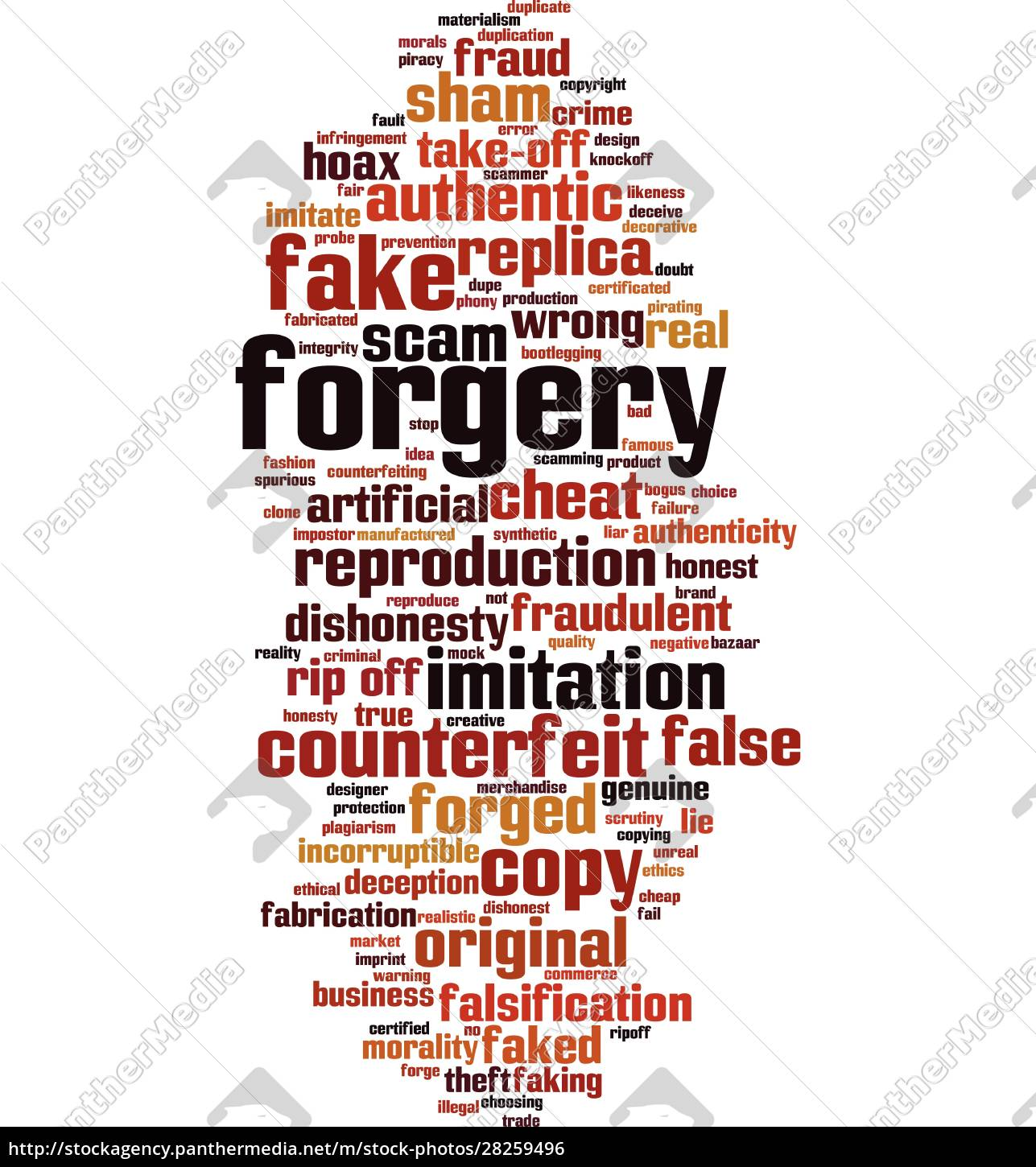 forgery, word, cloud - 28259496