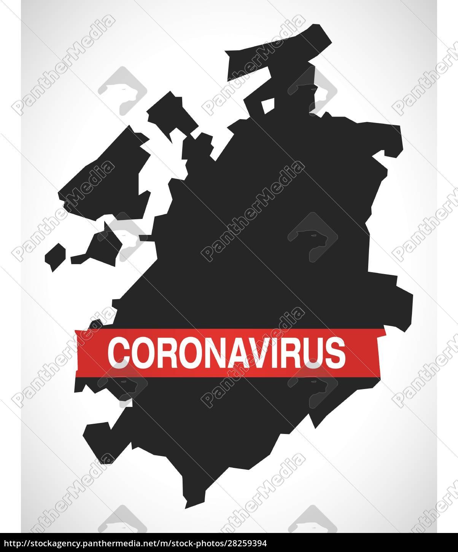fribourg, switzerland, canton, map, with, coronavirus - 28259394