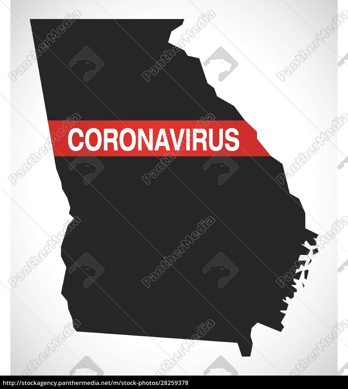 georgia, usa, federal, state, map, with - 28259378