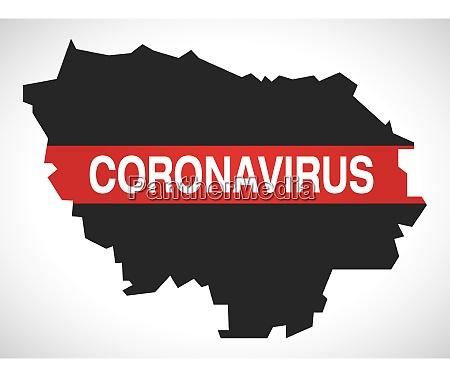ile-de-france, france, region, map, with, coronavirus - 28259403