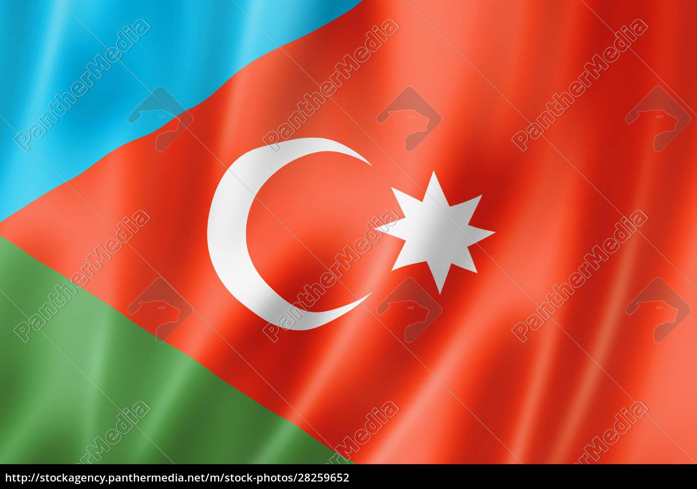 iranian, azerbaijanis, ethnic, flag, , asia - 28259652