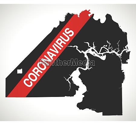 jacksonville, florida, city, map, with, coronavirus - 28259270