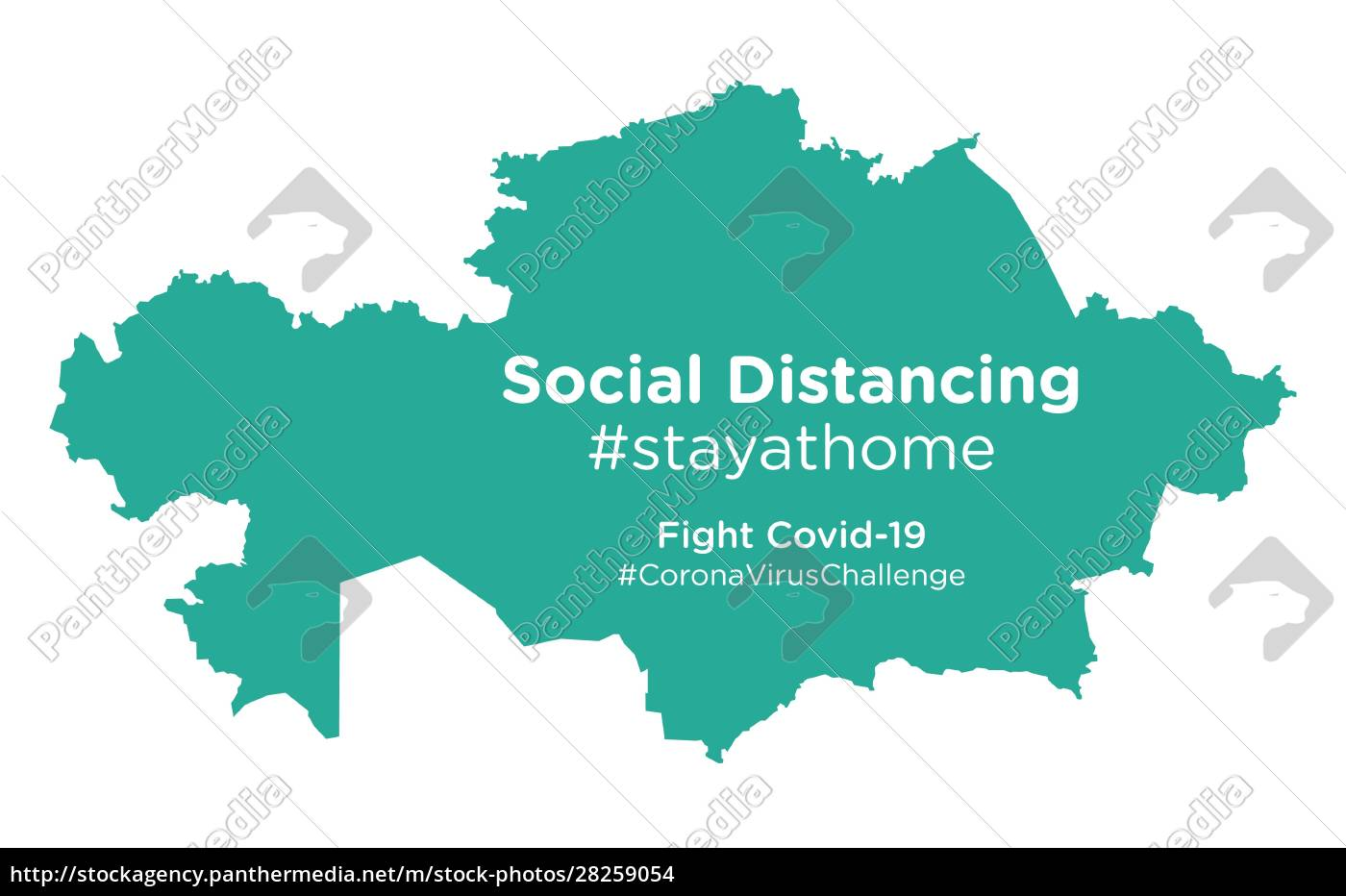 kazakhstan, map, with, social, distancing, stayathome - 28259054