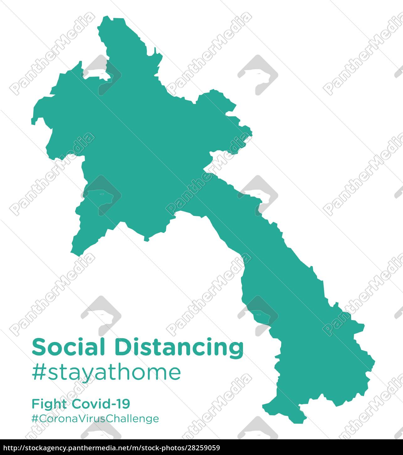 laos, map, with, social, distancing, stayathome - 28259059