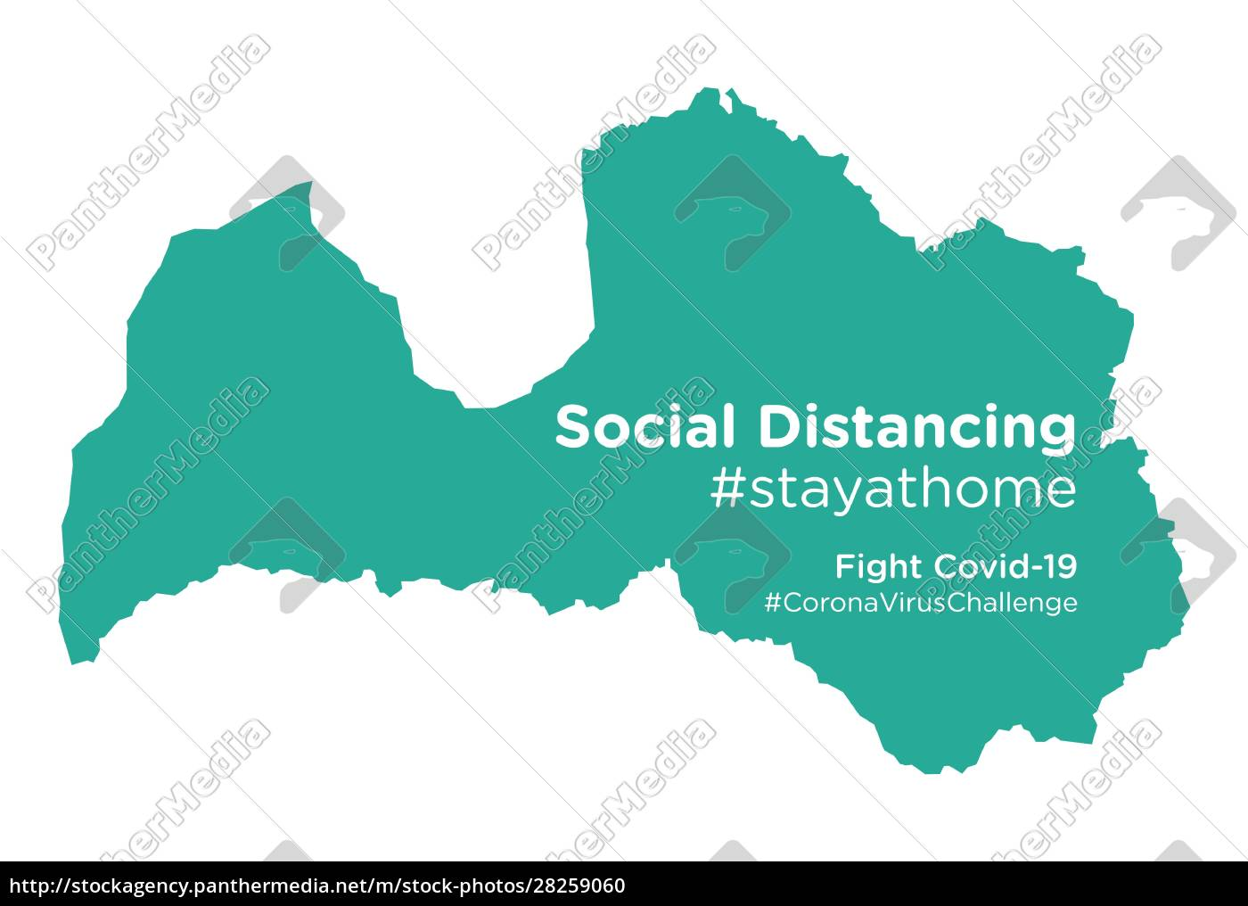 latvia, map, with, social, distancing, stayathome - 28259060