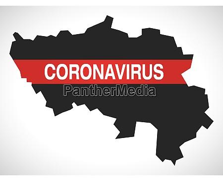 liege, belgium, province, map, with, coronavirus - 28259419