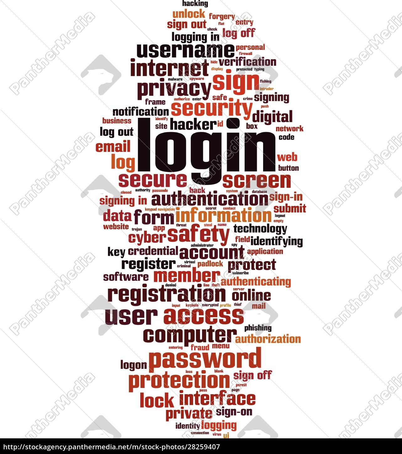 login, word, cloud - 28259407