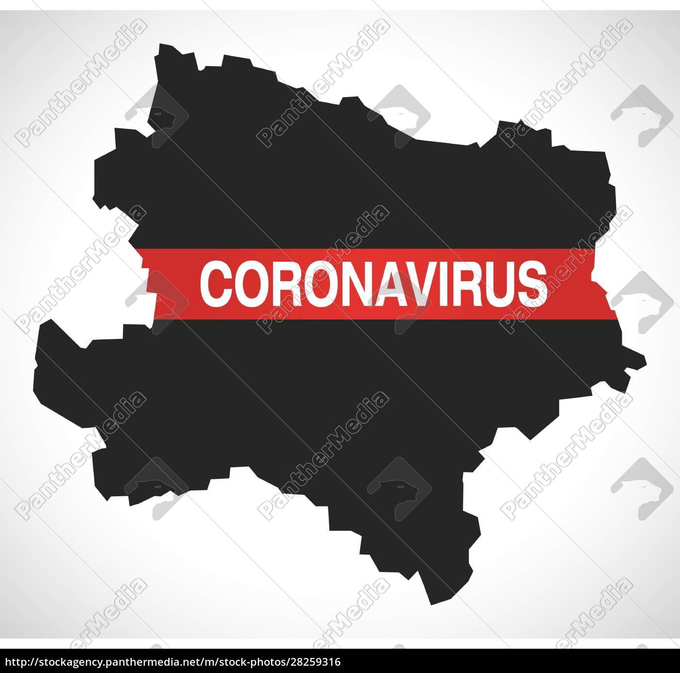 lower, austria, austria, federal, state, map - 28259316