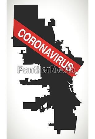 milwaukee, wisconsin, city, map, with, coronavirus - 28259277