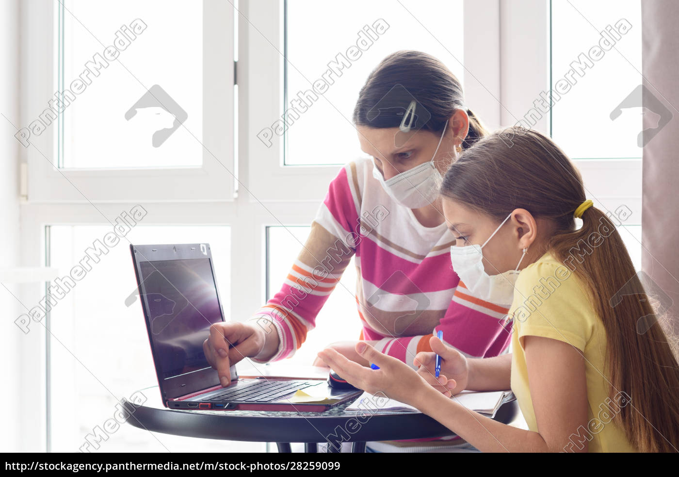 mom, and, daughter, in, self-isolation, regime - 28259099