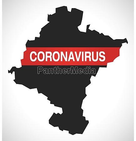 navarre, spain, region, map, with, coronavirus - 28259352