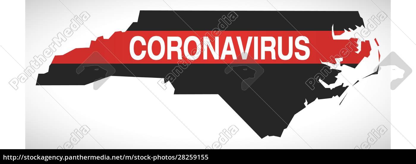north, carolina, usa, federal, state, map - 28259155