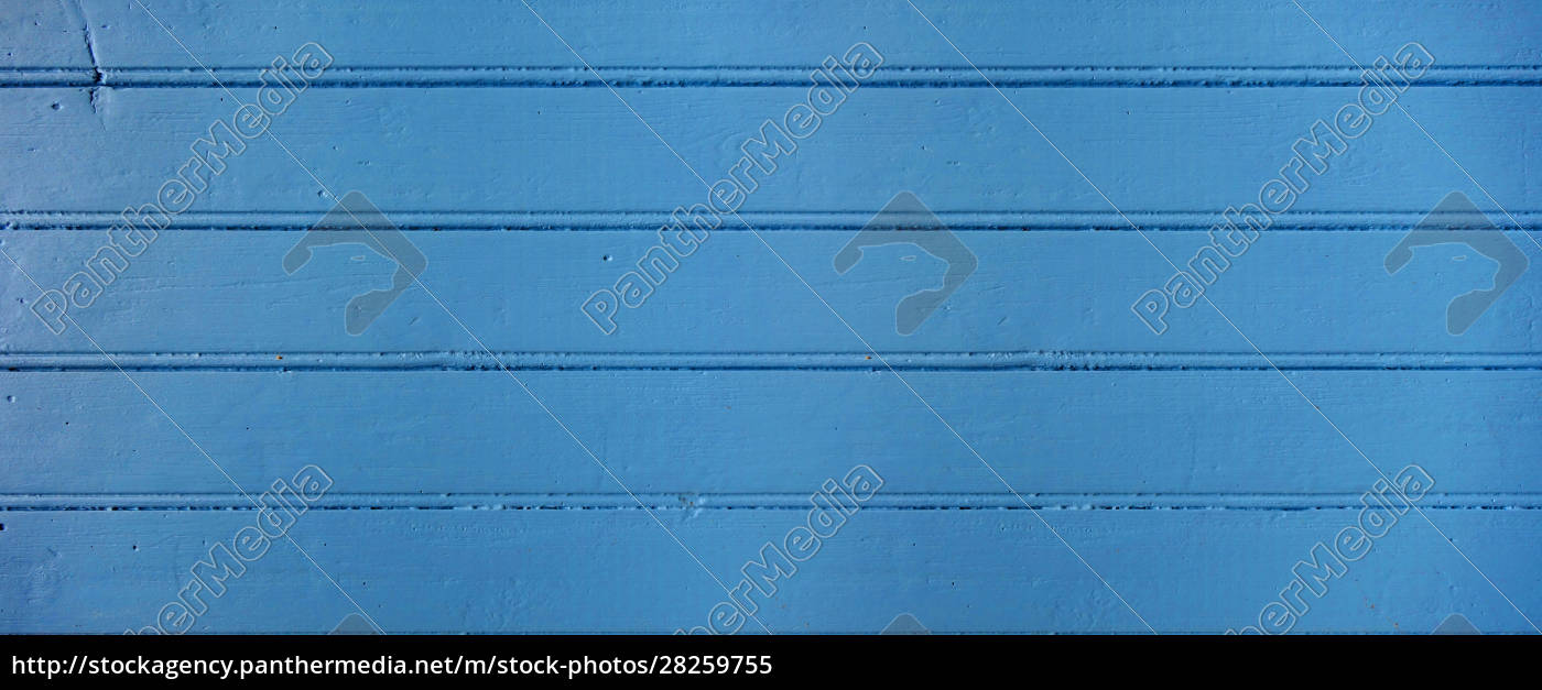 old, wood, board, painted, blue., banner - 28259755