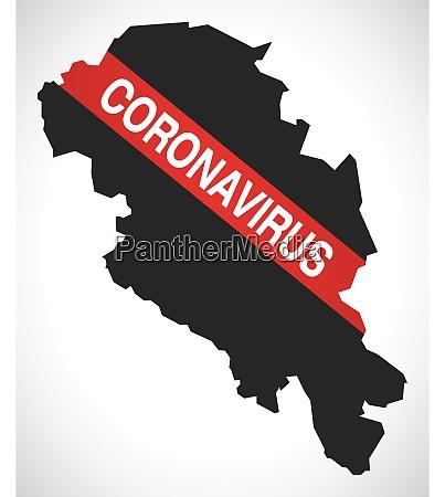 oppland, norway, county, map, with, coronavirus - 28259295