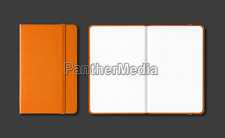 orange, closed, and, open, notebooks, isolated - 28259647