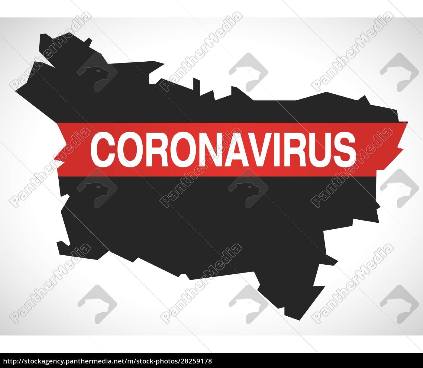 picardy, france, region, map, with, coronavirus - 28259178