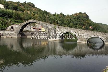 ponte, della, maddalena, across, the, serchio. - 28259048