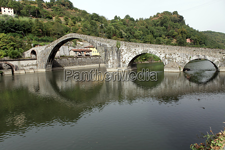 ponte, della, maddalena, across, the, serchio. - 28259069