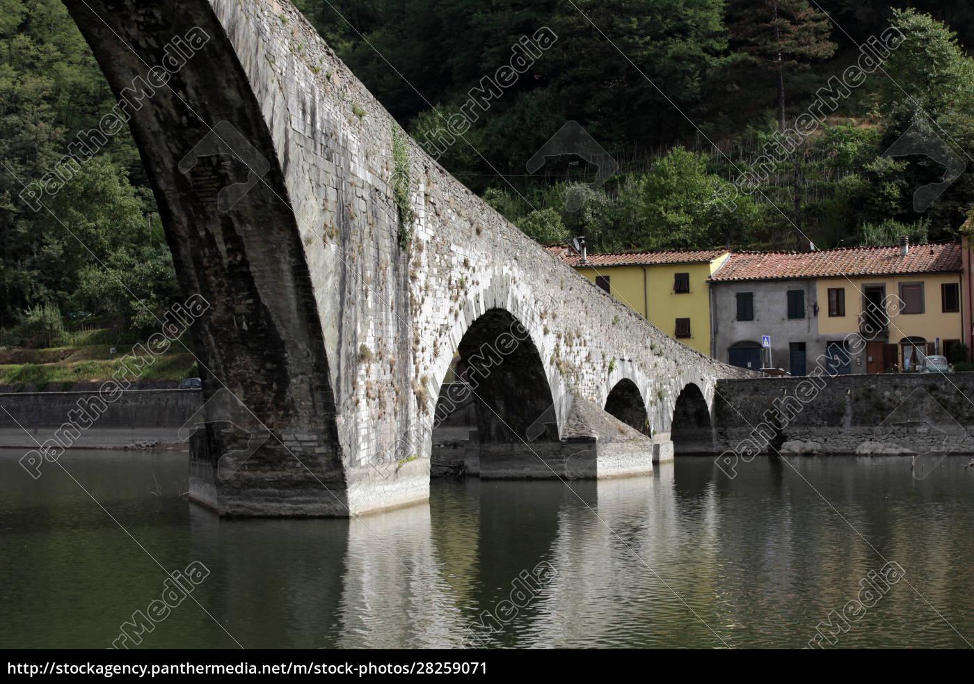 ponte, della, maddalena, across, the, serchio. - 28259071
