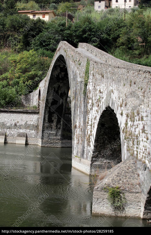 ponte, della, maddalena, across, the, serchio. - 28259185