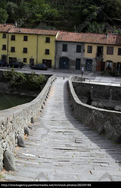 ponte, della, maddalena, across, the, serchio. - 28259188