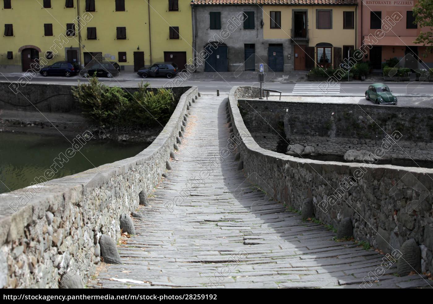 ponte, della, maddalena, across, the, serchio. - 28259192