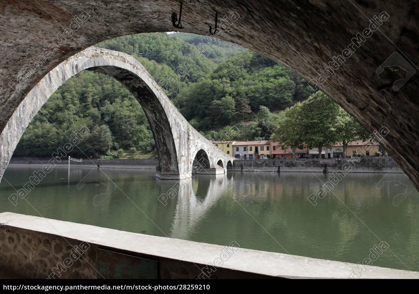 ponte, della, maddalena, across, the, serchio. - 28259210